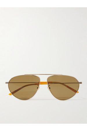 Gucci Aviator-Style -Tone and Acetate Sunglasses