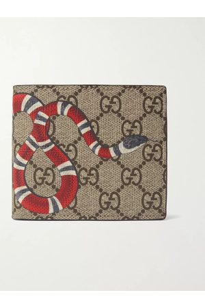 Gucci Homem Bolsas & Carteiras - Printed Monogrammed Coated-Canvas and Leather Billfold Wallet