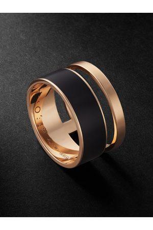 Repossi Homem Anéis - Berbere Rose and Enamel Ring