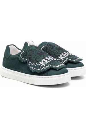 Kenzo Tiger-patch slip-on sneakers