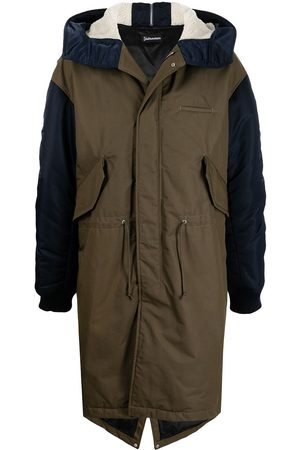 UNDERCOVER Two-tone hooded parka