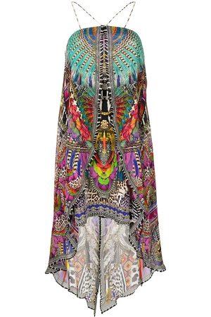 Camilla Overlay strapless draped dress