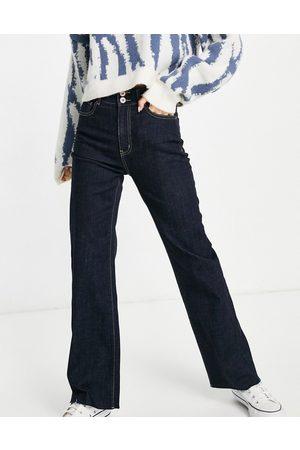 Urban Revivo Mulher Cintura Subida - High waist straight leg jeans in dark blue