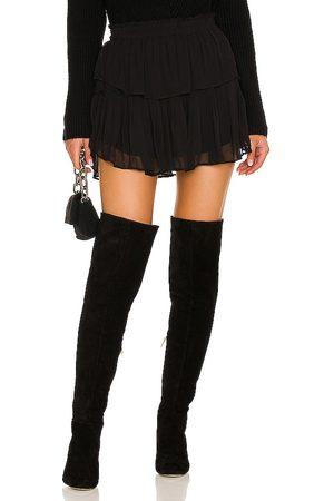 LOVESHACKFANCY Ruffle Mini Skirt in - . Size L (also in M, S, XL, XS).