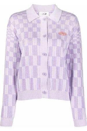 Kirin Mulher Camisolas - Knit logo check cardigan