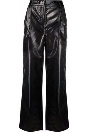 COPERNI High-waist faux-leather trousers