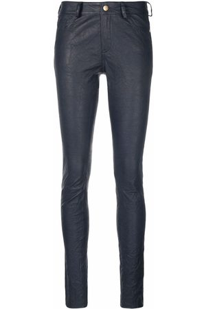 Zadig & Voltaire Slim-cut leather trousers