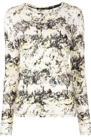 Proenza Schouler Floral-print long-sleeve T-shirt