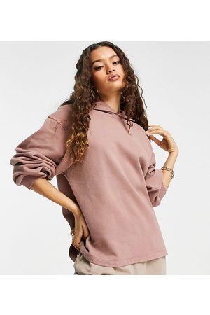 ASOS Petite Mulher Camisolas com capuz - ASOS DESIGN Petite minimal hoodie in washed heather-Purple