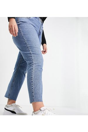 VERO MODA Mulher Retos - Curve Brenda straight leg jeans in mid blue