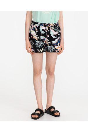 Roxy Mulher Calções - Salty Tan Shorts Black Colorful