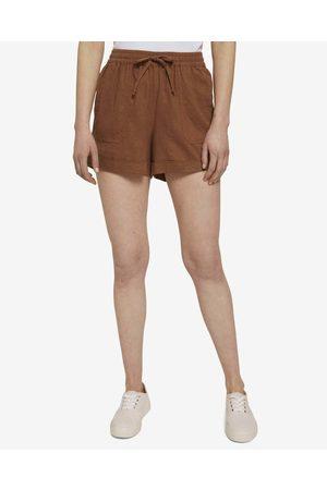 TOM TAILOR Mulher Calções - Shorts Brown