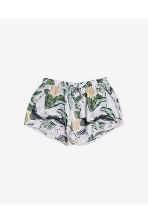 Roxy Mulher Calções - Salty Tan Shorts Green White
