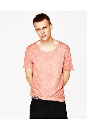 Homem T-shirts & Manga Curta - Zara T-SHIRT EFEITO DESGASTADO - Disponível em mais cores