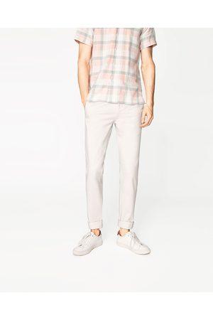 Homem Calças Chino - Zara CALÇAS CHINO SLIM - Disponível em mais cores