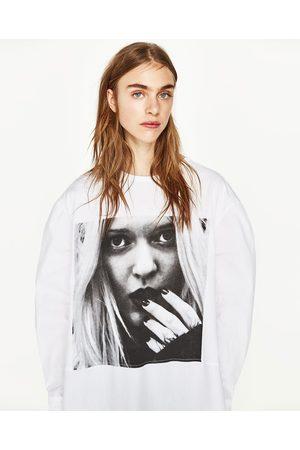 Senhora T-shirts & Manga Curta - Zara T-SHIRT COMBINADA ESTAMPADO