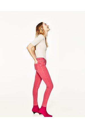 Senhora Skinny - Zara CALÇAS DE GANGA DUAL SKINNY - Disponível em mais cores